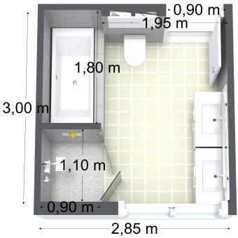 3D plan av badet